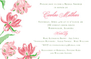 Pink Tulips Invitation - Landscape