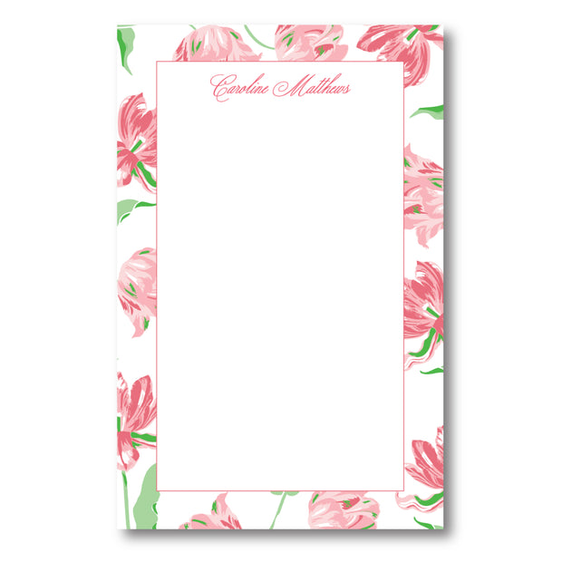 Pink Tulips Notepad