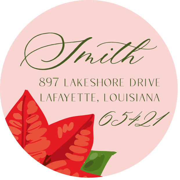 Poinsettia Return Sticker