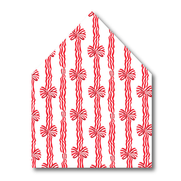 Red Stripe Bow Envelope Liner