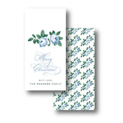 Rose Chintz Blue Gift Tag