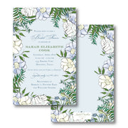 Spring Floral - Blue Invitation