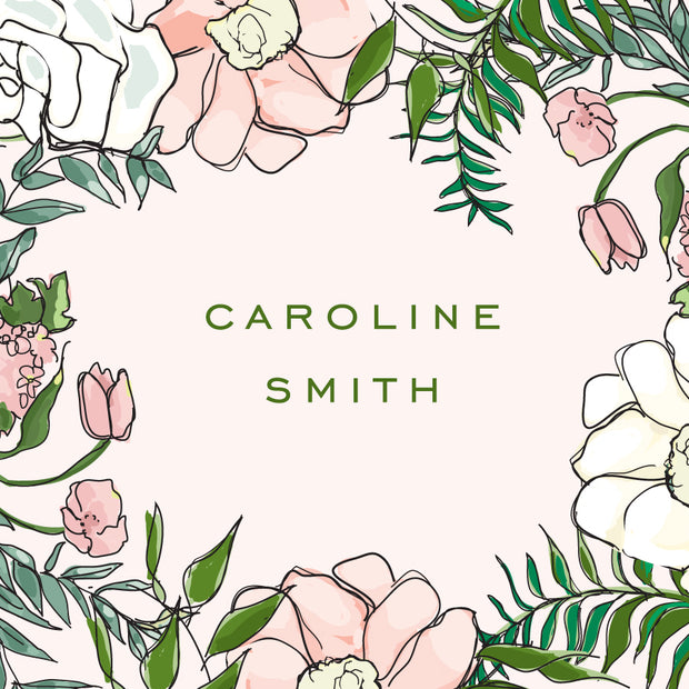 Spring Floral - Pink Calling Card