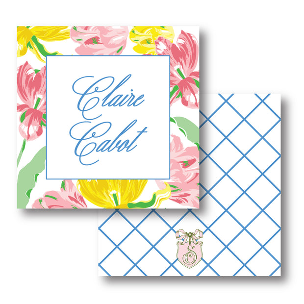 Spring Tulips Calling Card