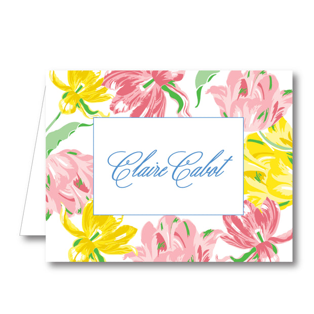 Spring Tulips Folded Notecard