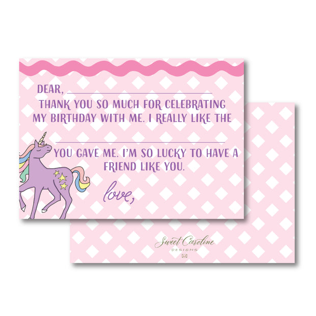 Unicorn Fill in the Blank Stationery