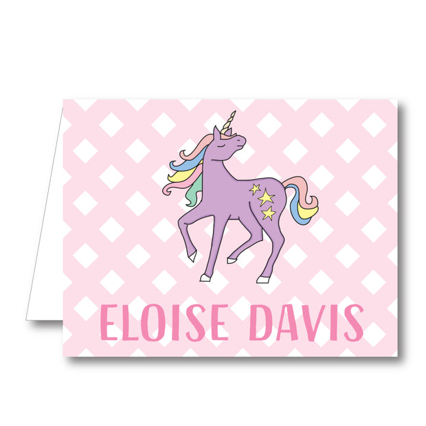 Unicorn Folded Notecard