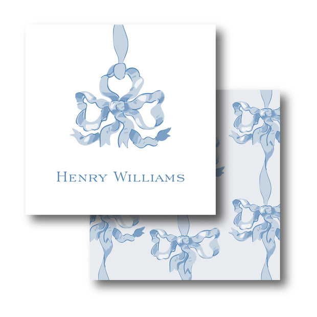 Blue Vintage Bows Calling Card