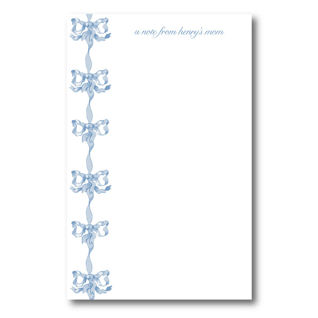 Blue Vintage Bows Notepad