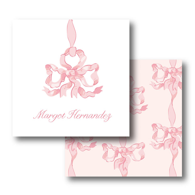 Pink Vintage Bows Calling Card