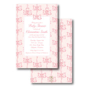 Pink Vintage Bows Invitation