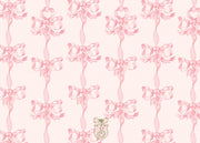 Pink Vintage Bows Stationery