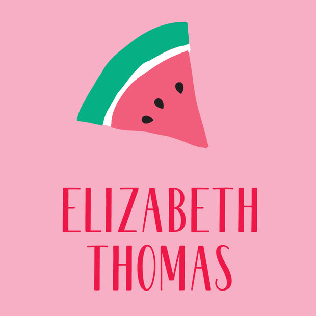 Watermelon Check Calling Card