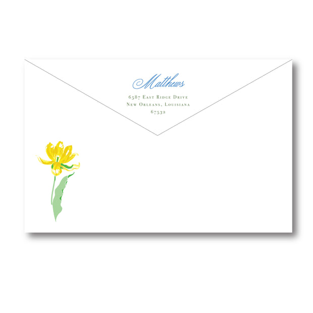 Yellow Tulips Return Address