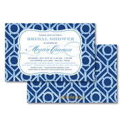 Blue Trellis Invitation