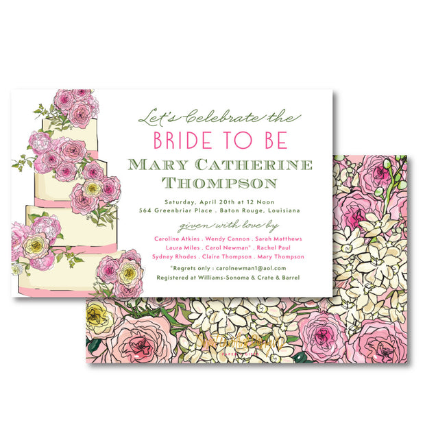 Bridal Cake Invitation