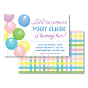 Multi Balloons Invitation