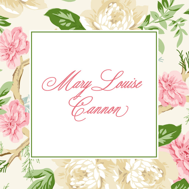 Pink Chintz Calling Card