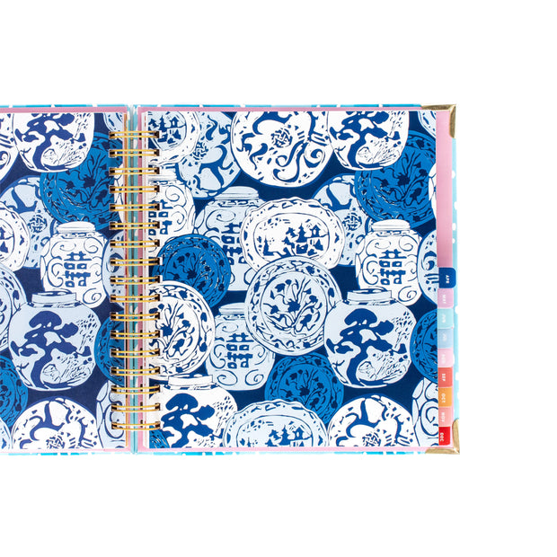 Blue Floral Planner - Small