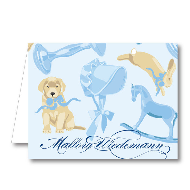 Baby Boy Fun Folded Notecard