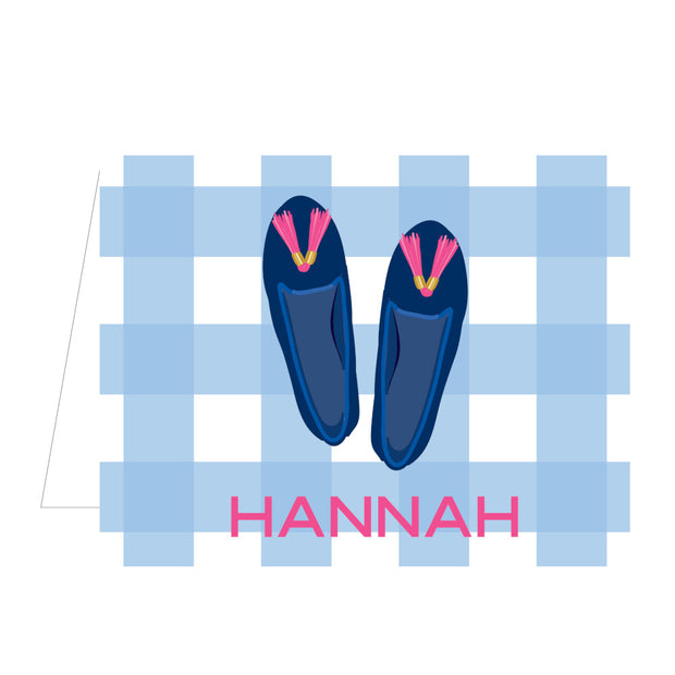 Blue Shoes Folded Notecard