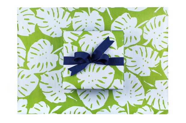 Blue Green Palm Gift Wrap