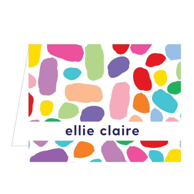 Confetti Dot Folded Notecard