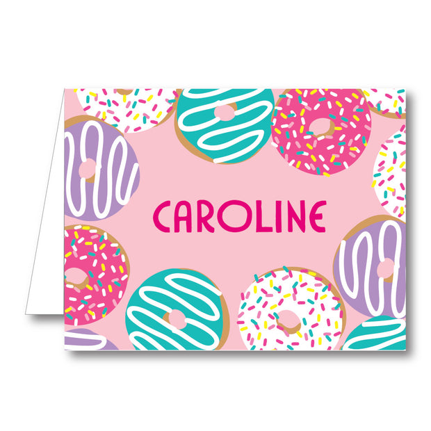 Donuts Folded Notecard