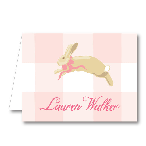 Bunny Folded Notecard