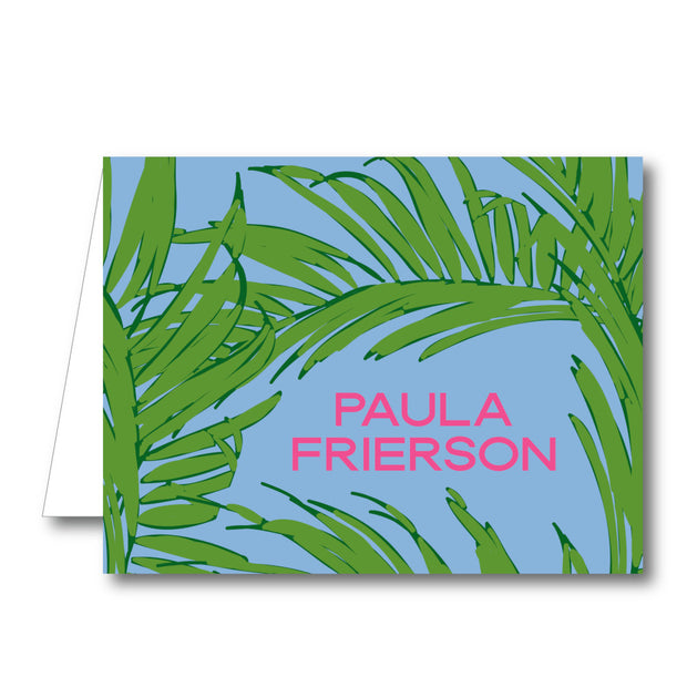 Green Palms Folded Notecard