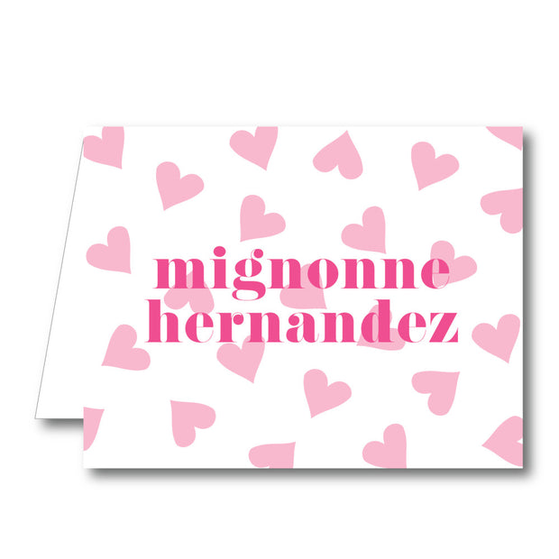 Hearts Folded Notecard