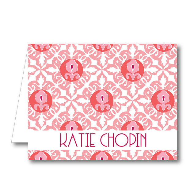 Pink Geo Folded Notecard
