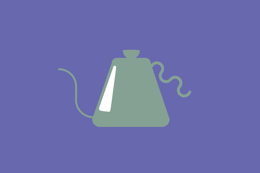 Metal Goosed necked kettles in silver, copper, and matte black.