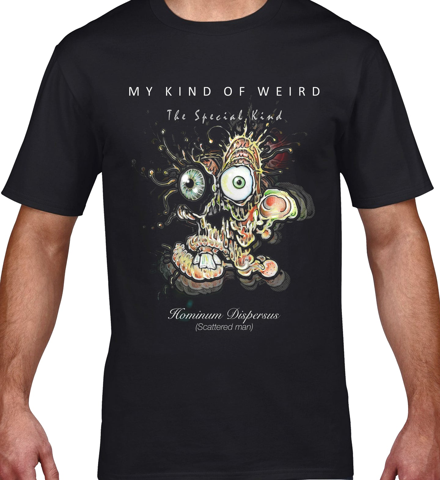 MY KIND OF WEIRD - SCATTERED MAN - MEN'S TEE