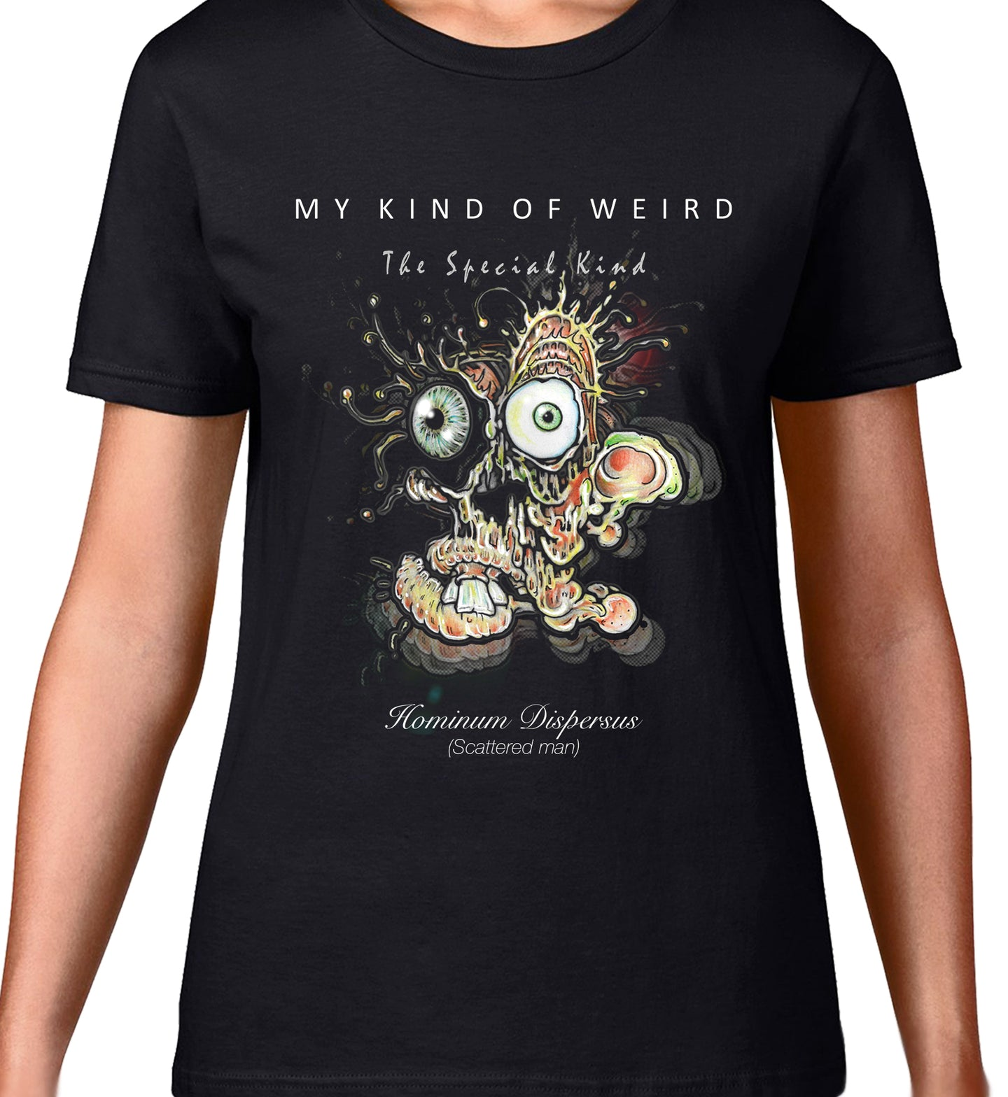 MY KIND OF WEIRD - SCATTERED MAN - WOMEN'S TEE