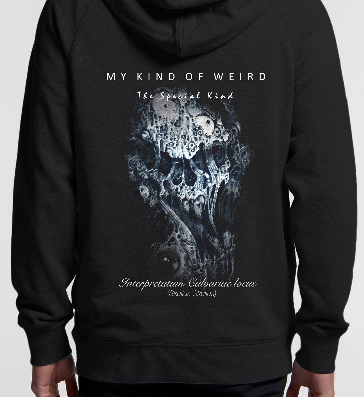 MY KIND OF WEIRD - STRETCHED SKULL - PREMIUM HOODIE 5120/4210