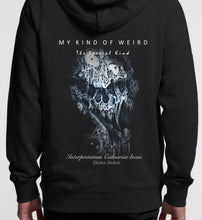 Load image into Gallery viewer, MY KIND OF WEIRD - STRETCHED SKULL - Kids & Youth Hoodie