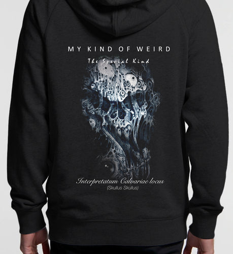 MY KIND OF WEIRD - STRETCHED SKULL - Kids & Youth Hoodie