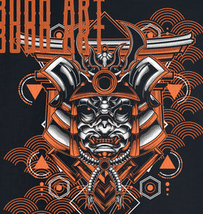 GRAPHIC TEE -  SAMURAI MASK 8