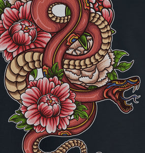 GRAPHIC TEE -  SNAKE TATTOO