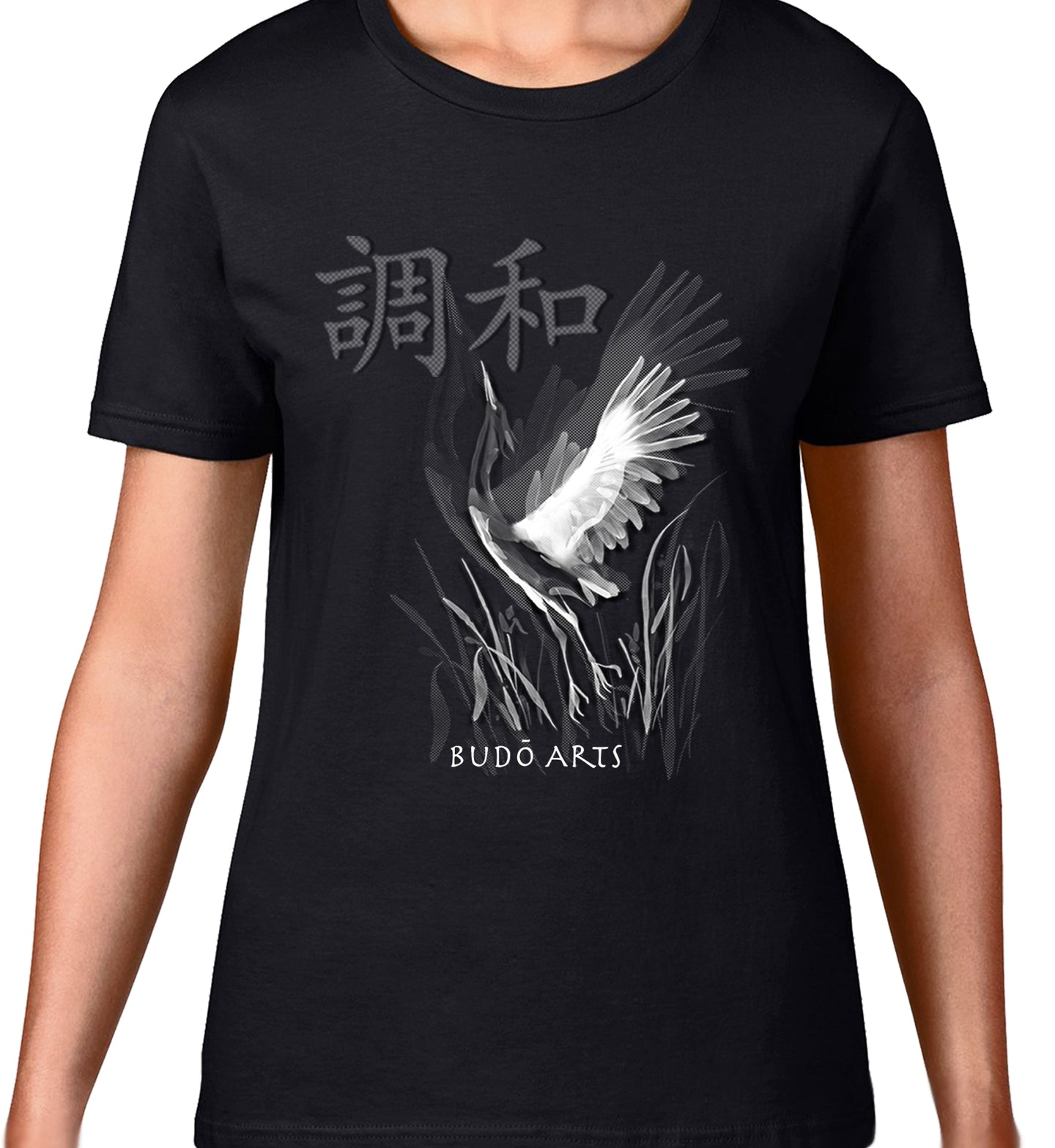 MAD MARTIAL ART DESIGNS - CRANE - HARMONY - WOMEN'S TEE