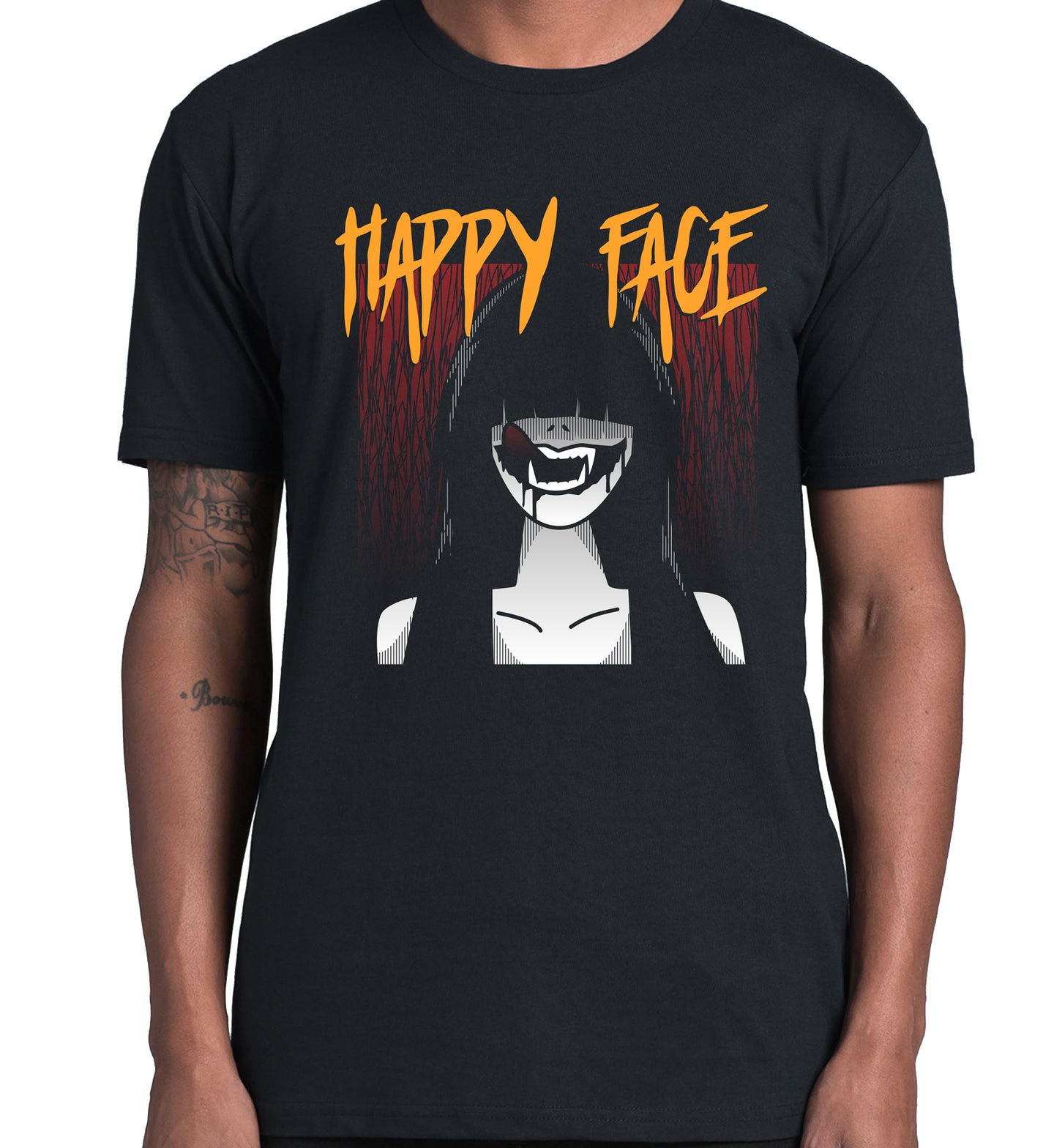 GRAPHIC TEE -  HAPPY FACES 1