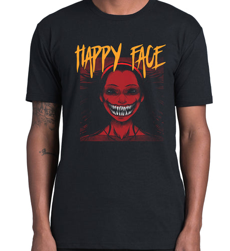 GRAPHIC TEE -  HAPPY FACES 2