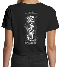 Load image into Gallery viewer, KARATE DO - STYLED KANJI - WOMEN'S 4062 CROPPED TEE