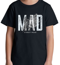 Load image into Gallery viewer, MAD STREET WEAR - ROUGH BRUSHED/ Grey Logo & TIGER - WOMEN'S TEE