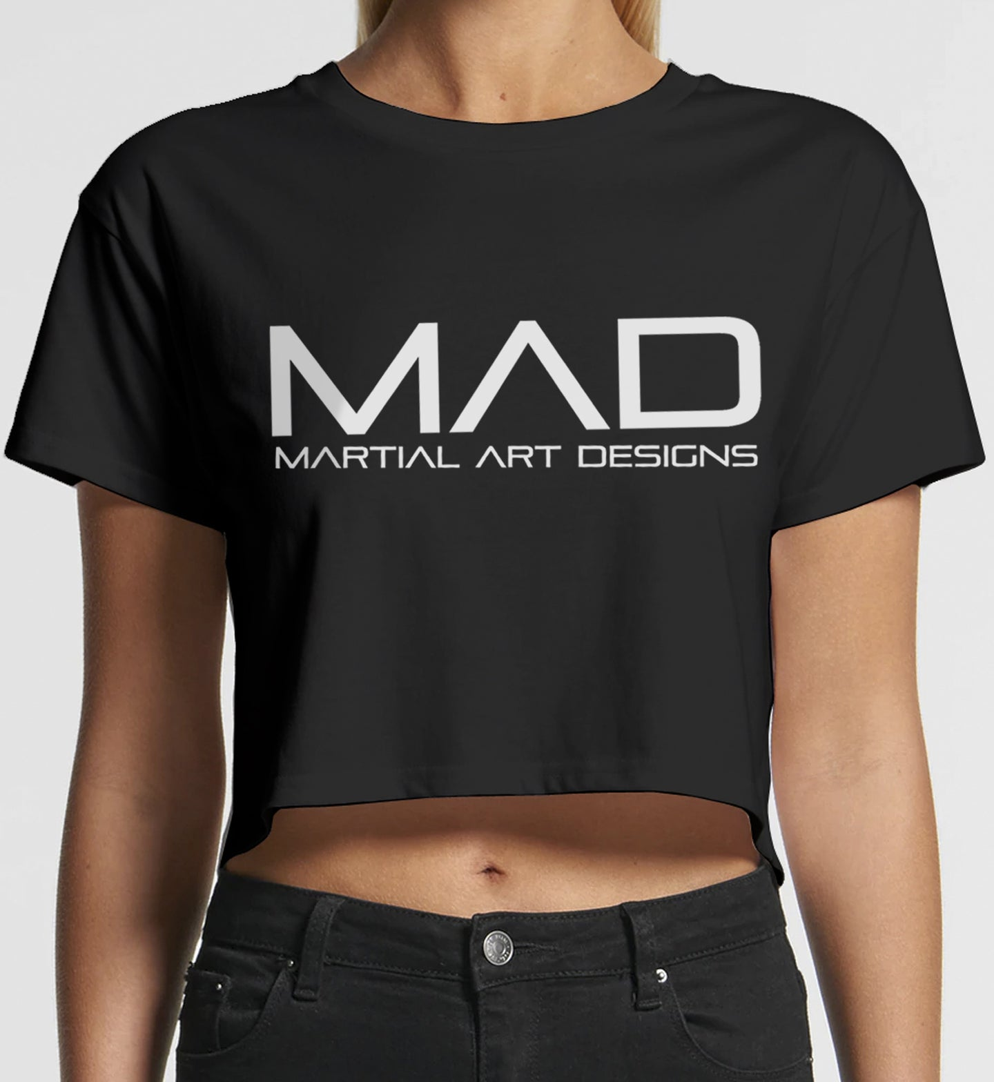 MAD Martial Art Designs - WOMEN'S 4062 CROPPED TEE