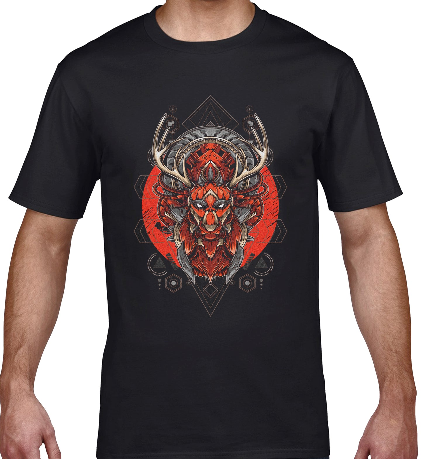 GRAPHIC TEE -  ANTLERS MASK 18