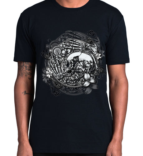 GRAPHIC TEE -  SKULL CLOCKWORKS