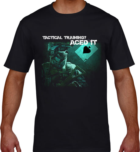 GRAPHIC TEE -  TACTICAL TRAINING? - ACED IT