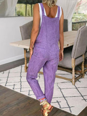 Loose Casual Plus Size Linen Jumpsuit